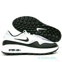 Nike Air Max 1 G Men's Golf Running Training Gym Sport White Black CI7576-100