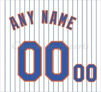 New York Mets White Home Jersey Customized Number Kit un-stitched