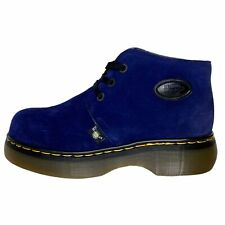 Dr. Martens NWOT Suede Chukka Boots Royal Blue Chunky Men's Size 9 Rare Felt