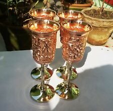 Handmade Pure Copper Wine Goblet 10 OZ Drinking Copper Glass With Stand