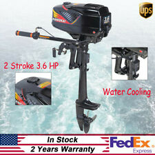 Top!2Stroke 3.6HP Outboard Motor Inflatable Fishing Boat Engine CDI Water Cooled