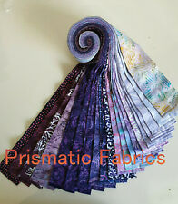 Batik 100% Cotton Fabric Quilter Jelly Roll 40pc x 112cm x 6.35cm Purple Berry