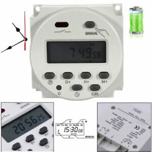 Zeitschaltuhr DC/AC 12V 16A LCD Digital-Display Programmierbar Timer OVP Neu