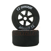 TRG TZ Rear Foam Tire Glued On Wheel 25 Degrees Tamiya F103 F1 RC Cars #TZ2101