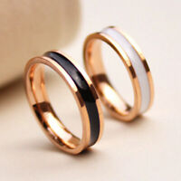 Women Men Stainless Steel Wedding Band Couple Engagement Ring Jewelry Size 3-10