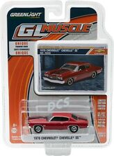 GREENLIGHT MUSCLE 1970 Chevy Chevelle SS - RED 1/64 DIECAST CAR 13170-D
