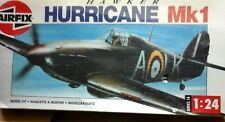 HAWKER HURRICANE MK1-1/24 - AIRFIX MODEL-ELECTRIC MOTOR NOT INCLUDED IN THE BOX-