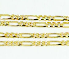 """10k Yellow Gold Figaro Chain Necklace 22""""(new,4.95g)#2472d"""