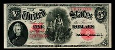 1907 $5 Red Seal Large Size Notes United States Notes