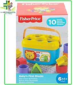 Fisher Price MATTEL 6M+  Blocchi Colorati Atossici Secchiello 10pz Baby's Blocks