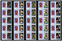CARLTON SET OF 5 150th FOOTBALL STRIPS OF 10 MINT VIGNETTE STAMPS