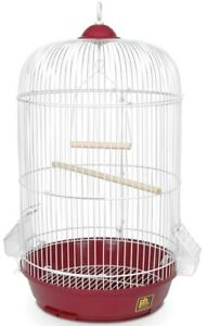 """New Prevue Pet Products Classic Round Red Bird Cage, 24"""" H X 13"""" D"""