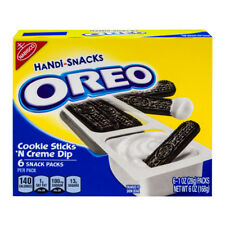 NEW NABISCO HANDI-SNACKS OREO 6 OZ BOX COOKIE STICKS N CREME 6 SNACK PACKS