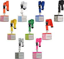 Schlüsselband Lanyard mit Kartenhülle Ausweishalter Namensschild Ausweishülle