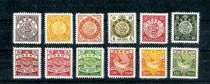 China 1898 Imperial Dragon Stamp Complete Set  nice reprint