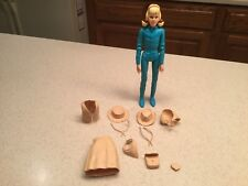Vintage Louis Marx  Action Figure Josie West Blue W/ Accessories Used