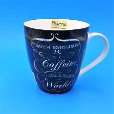 Pfaltzgraff With Enough Caffeine I Could Rule The World LG Coffee Mug Black 18oz