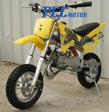 FREE SHIPPING KIDS 49CC 2-CYCLE GAS MOTOR MINI BIKE POCKET BIKE YELLOW V DB49A