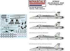 RAAF F/A-18 Hornet 75&77 Sqn Decals 1/72 Scale N72013