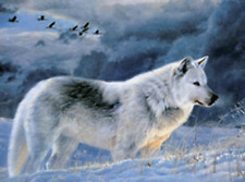 WOLF ON HILL - 3D MOVING PICTURE 400mm X 300mm (NEW)