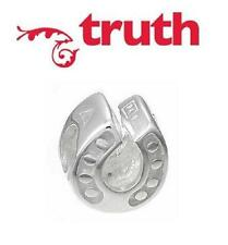 Genuine TRUTH PK 925 sterling silver LUCKY HORSESHOE charm bead, wishes & luck