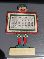 Original 1950 EN-AR-CO Penn Motor Oil  - White Rose Gasoline Sign Calendar Iowa