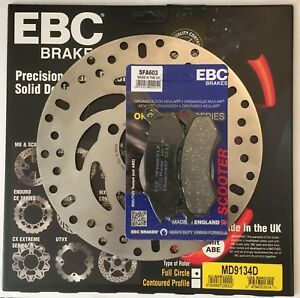 EBC FRONT Brake Disc and Brake Pad Kit Fits HONDA PCX125 / PCX150 (2012 to 2017)