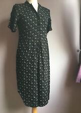 Noa Noa Size 36 Black shirt dress with ball buttons midi chiffon style shirt sle