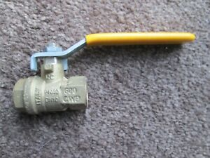 "Parker Brand 3/8"" NPT Brass Ball Valve Full Port, Shut-Off Valves, 600psi WOG"