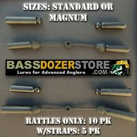 Bass Fishing Jig Rattles (10) or Rattle Straps (5). Color: Black.