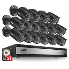 ZOSI 16 Ch Channel 720P HDMI Surveillance CCTV DVR 2TB Security Camera System