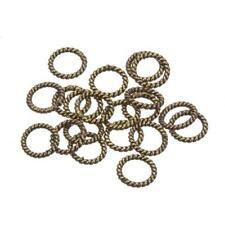 Twisted cuerda latón antiguo anillo espaciador granos 8 mm paquete de 20 (C84/14)