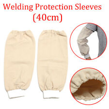 """Red Leather Welders Sleeves elasticated cuff 14/"""" for Welder Blacksmith"""