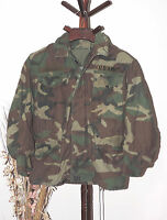 Army Military Cold Weather Lined Field Jacket Small Short Woodland Camouflage