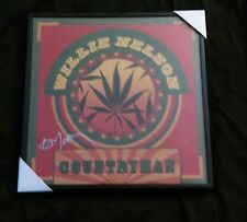 Willie Nelson Countryman Authentic Signed Album Cover in frame