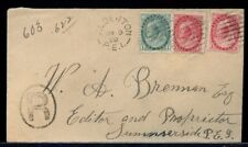 Alberton Pei split ring Numeral issue with Summerside Squared 1899 cover Canada