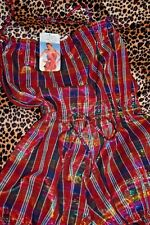 Vintage 70s 80s lurex tartan hotpants bnwt festival ibiza christmas