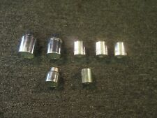 """New listing 7 Large Sockets 1/2"""" Drive 12 Point Sae Metric 1-3/8"""" 27 31 Mm Wright Williams"""