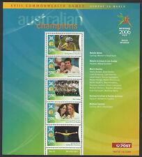 AUSTRALIA 2006 COMMONWEALTH GAMES GOLD MEDAL Souvenir Sheet No 15 MNH