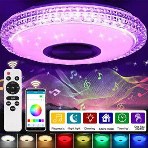 Deckenleuchte LED RGB Deckenlampe Musik mit Bluetooth Lautsprecher Fernbedienung