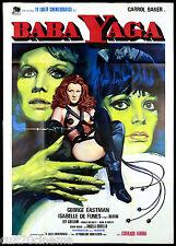 BABA YAGA MANIFESTO CINEMA CARROLL BAKER CREPAX VALENTINA 1973 MOVIE POSTER 4F