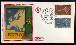 Andorra, 1968, Europa Cept, FDC, First Day Cover #rm287