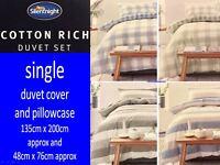 Silentnight Cotton Rich Single Duvet Set with Pillowcase Choose A Design For You