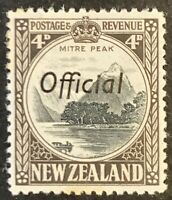 New Zealand. Optd OFFICIAL Four Pence Definitives. 1936. Mounted Unused. #AF87