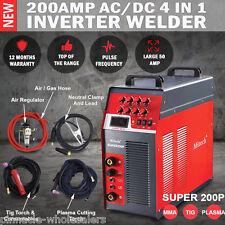 NEW Mitech 200AMP AC/DC 4 In 1 TIG Pulse Aluminium Welder Plasma Cutter