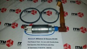Renault Alliance & Encore Fuel Pump kit - For Throttle Body Fuel Injection (TRW)