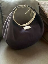 Kate Spade New York Vintage Blue Canvas Leather Circle Shoulder Beach Bag COA