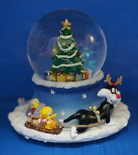 Tweety Sylvester Christmas Tree Animated Musical Snowglobe Looney Tunes 13961