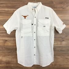 Columbia Texas Longhorns Bonehead PFG Shirt Short Sleeve Size S New