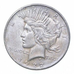 Early - 1922 Peace Silver Dollar - 90% US Coin *206